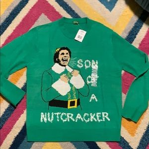 NWT Men's Large Buddy The Elf Christmas Sweater
